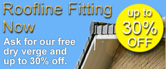 Roofline fitting now free dry verge and up to 30% off